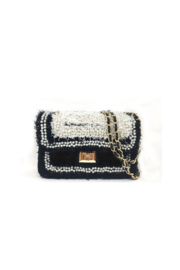 INZI Boucle Handbag with Pearl Adornments - Front cropped