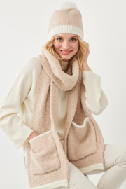 Charlie Paige Boucle Hat and Scarf Set - Product Mini Image