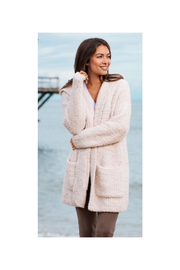 Barefoot Dreams BOUCLE HOODED CARDIGAN - Front full body