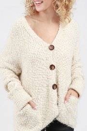 POL Boucle Hooded Cardigan - Product Mini Image