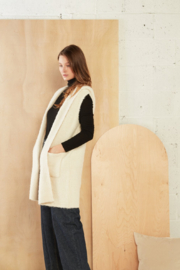 Look by M  Boucle Hoodie Vest - Product Mini Image