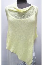 What's In Store Boucle Knit Poncho - Front cropped