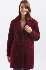 Charlie B. Boucle Knit Tailored Collar Coat - Product Mini Image