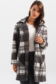 Charlie B. Boucle Knit Tailored Collar Coat in Pepper - Product Mini Image