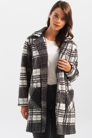 Charlie B. Boucle Knit Tailored Collar Coat in Pepper - Front cropped