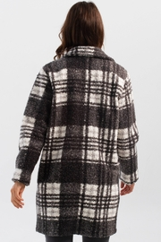 Charlie B. Boucle Knit Tailored Collar Coat in Pepper - Side cropped