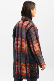 Charlie B. Boucle Knit Tailored Collar Coat in Pepper - Front full body
