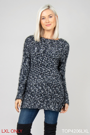 Simply Noelle Boucle Nub Sweater - Front cropped