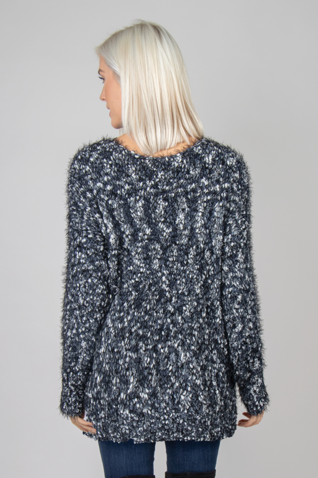 Simply Noelle Boucle Nub Sweater - Front Full Image