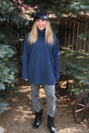 GG Jeans Boucle Turtleneck Tunic - Front full body