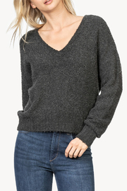 Lilla P Boucle V-Neck Sweater - Front cropped
