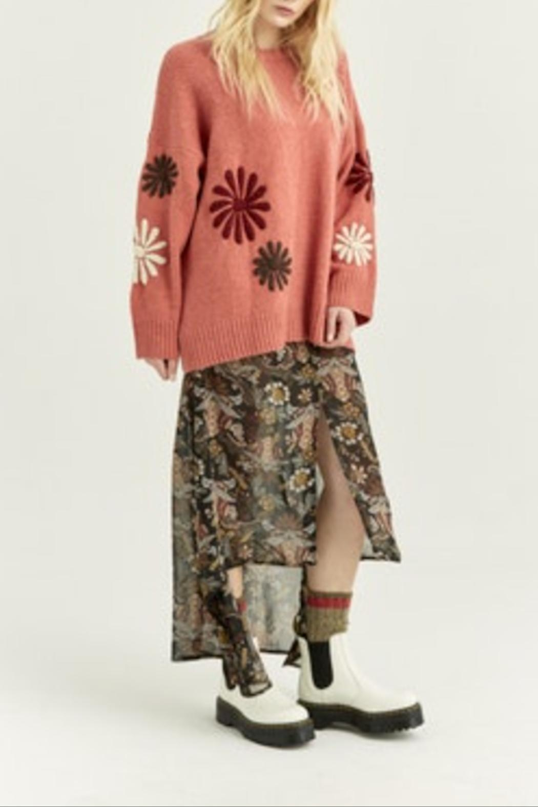 Boundless North  Daisy Embroidered Sweater - Front Full Image