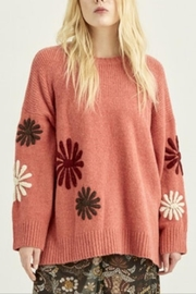 Boundless North  Daisy Embroidered Sweater - Front cropped
