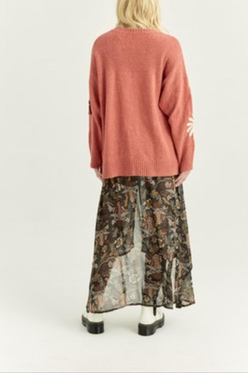Boundless North  Daisy Embroidered Sweater - Side Cropped Image
