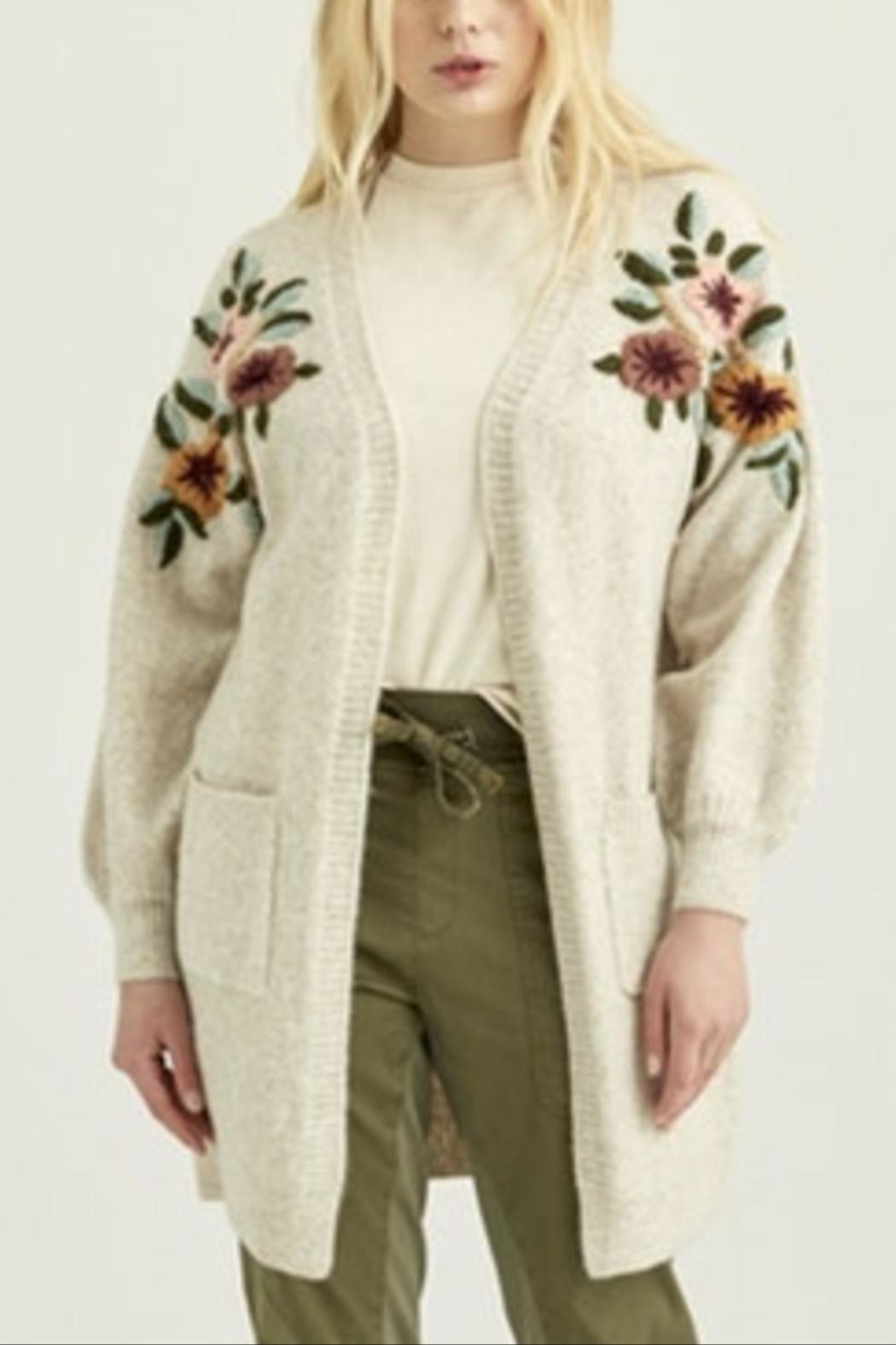 Boundless North  Flora Embroidered Cardigan - Main Image