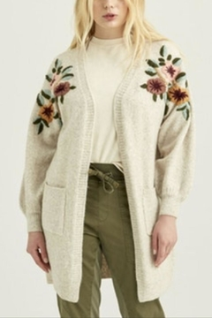 Boundless North  Flora Embroidered Cardigan - Product List Image