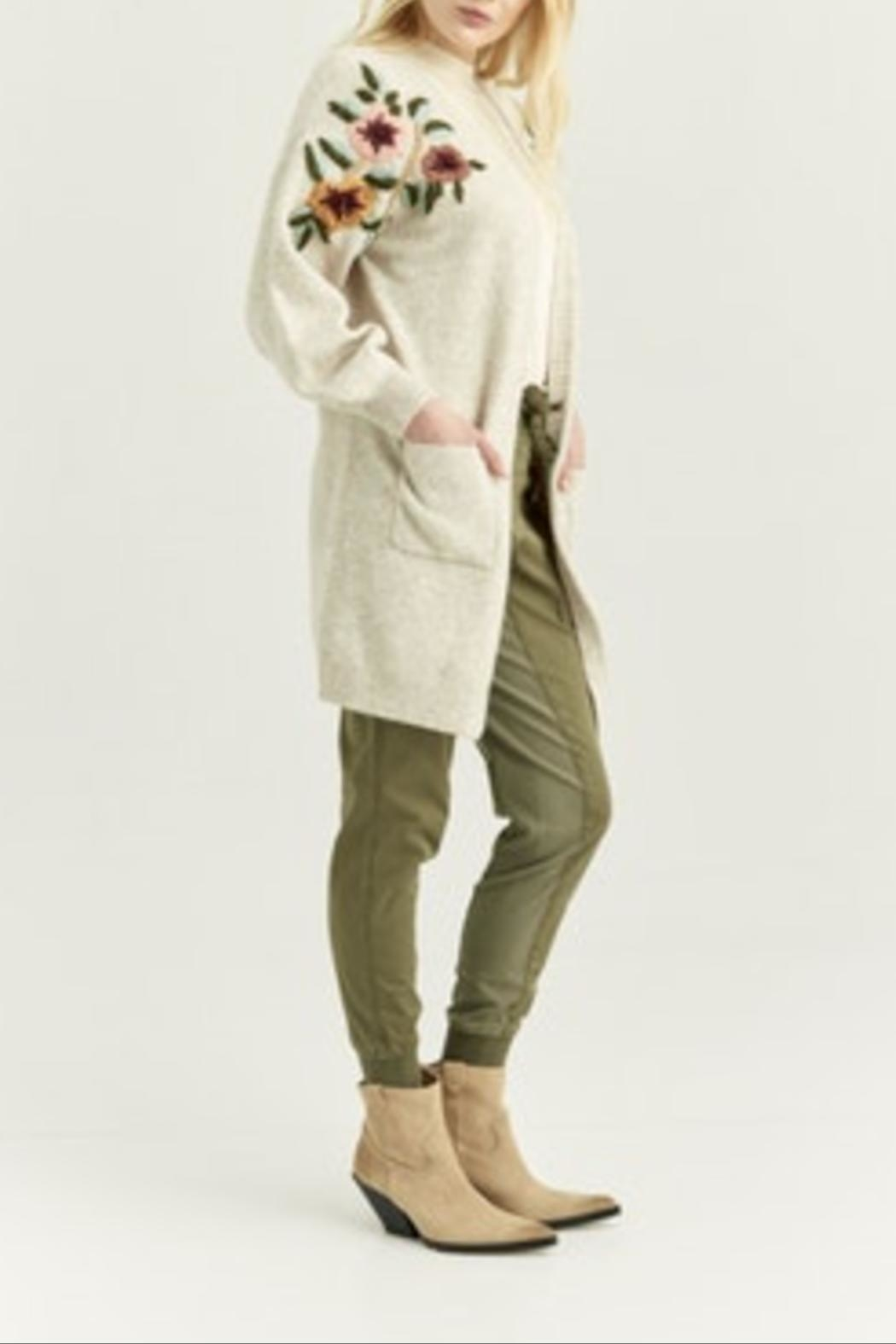 Boundless North  Flora Embroidered Cardigan - Front Full Image