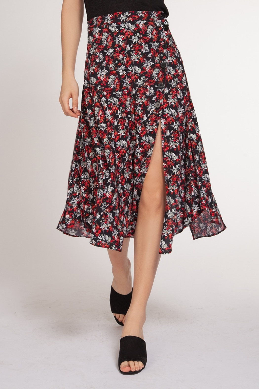 Dex Clothing Bouquet Maxi Skirt - Front Cropped Image