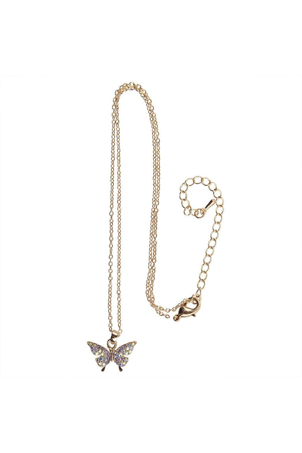 Great Pretenders  Boutique Butterfly Gem Necklace - Front Cropped Image