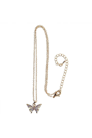Great Pretenders  Boutique Butterfly Gem Necklace - Front cropped