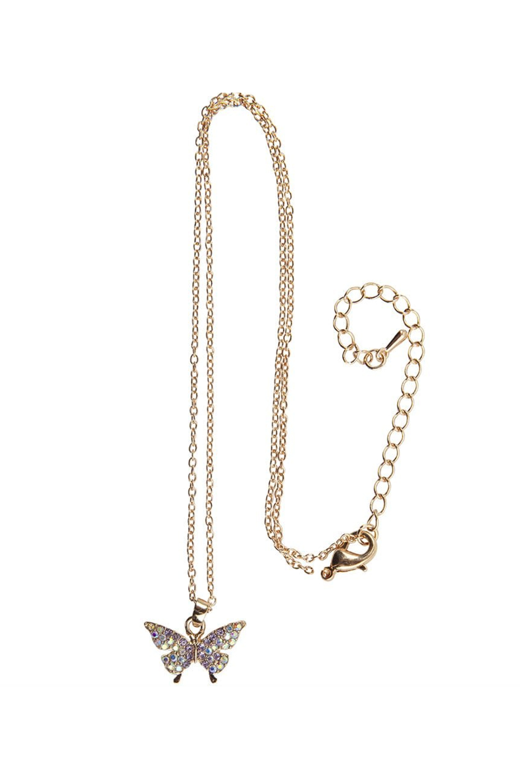 Great Pretenders  Boutique Butterfly Gem Necklace - Front Full Image