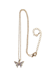 Great Pretenders  Boutique Butterfly Gem Necklace - Front full body