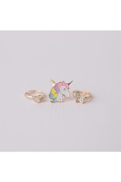Great Pretenders  Boutique Butterfly & Unicorn Ring Set - Alternate List Image