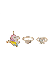 Great Pretenders  Boutique Butterfly & Unicorn Ring Set - Product Mini Image
