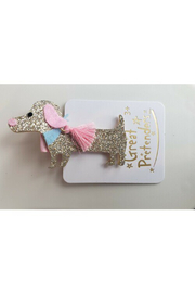 Great Pretenders  Boutique Dachshund Hair Clip - Front full body
