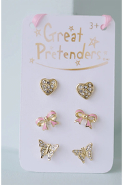 Great Pretenders  Boutique Dazzle Studded Earrings - Front cropped