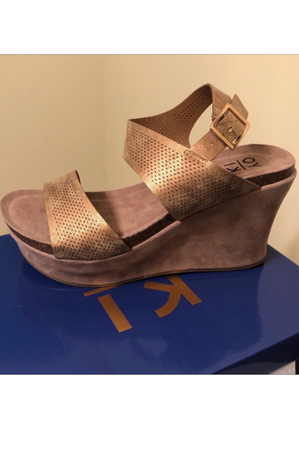 Boutique Gold Wedges - Main Image