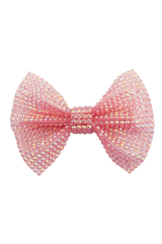 Great Pretenders  Boutique Pink Gem Bow Hair Clip - Front cropped