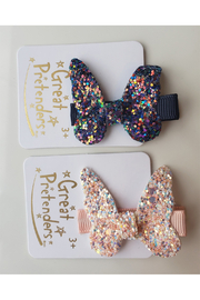 Great Pretenders  Boutique Rockstar Butterfly Hair Clip - Front cropped