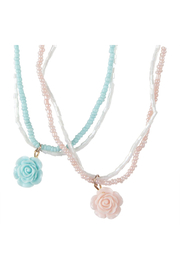 Great Pretenders  Boutique Rose Necklace - Side cropped