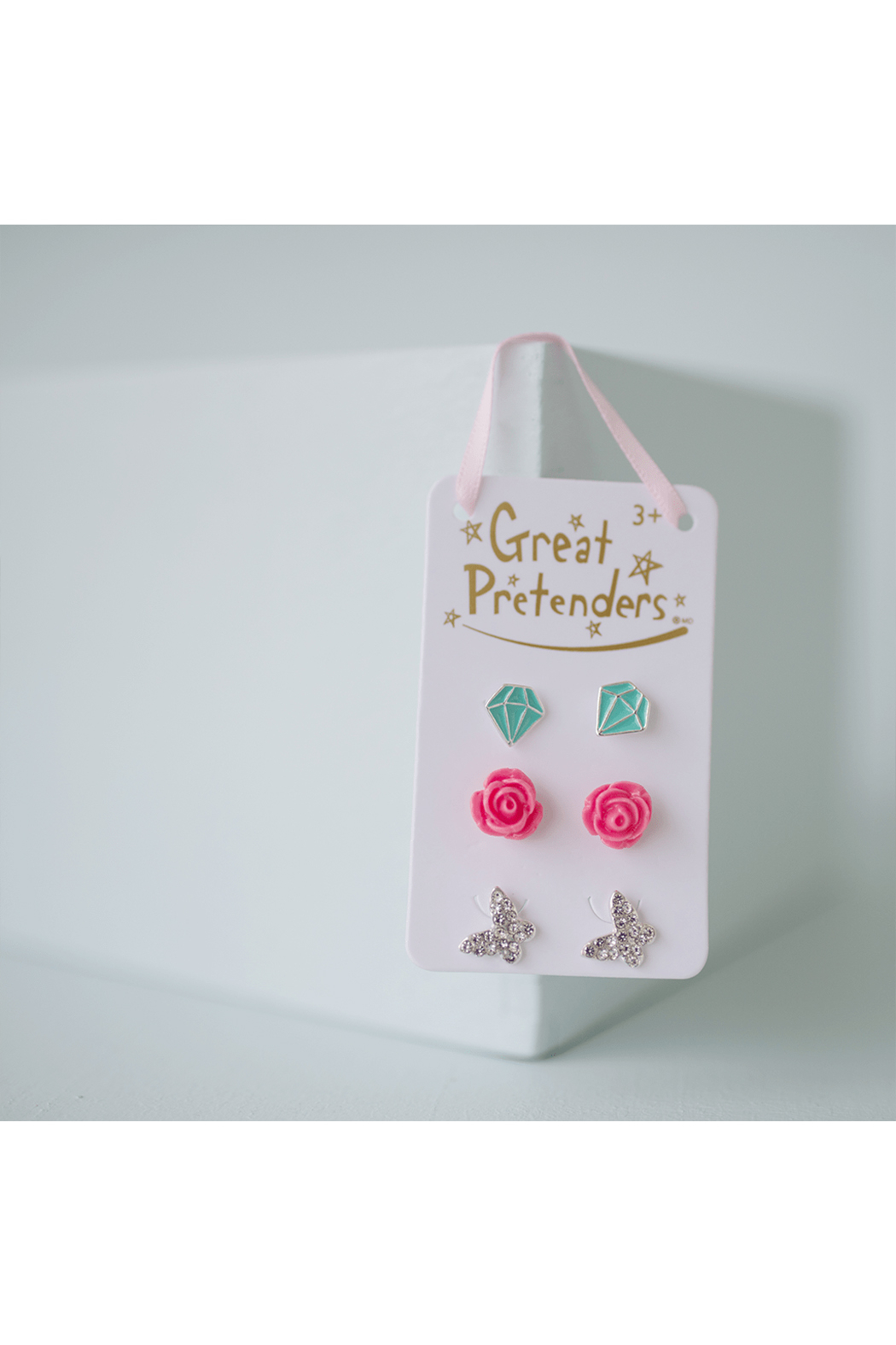 Great Pretenders  Boutique Rose Studded Earrings Set - Main Image