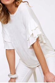 Boutique Ruffle Sleeve Top - Product Mini Image
