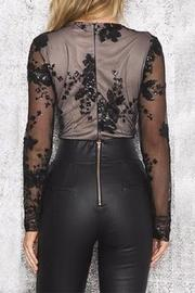 Boutique Sequin Plunge Bodysuit - Back cropped