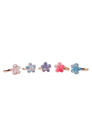 Great Pretenders  Boutique Shimmer Flower Ring - Front cropped