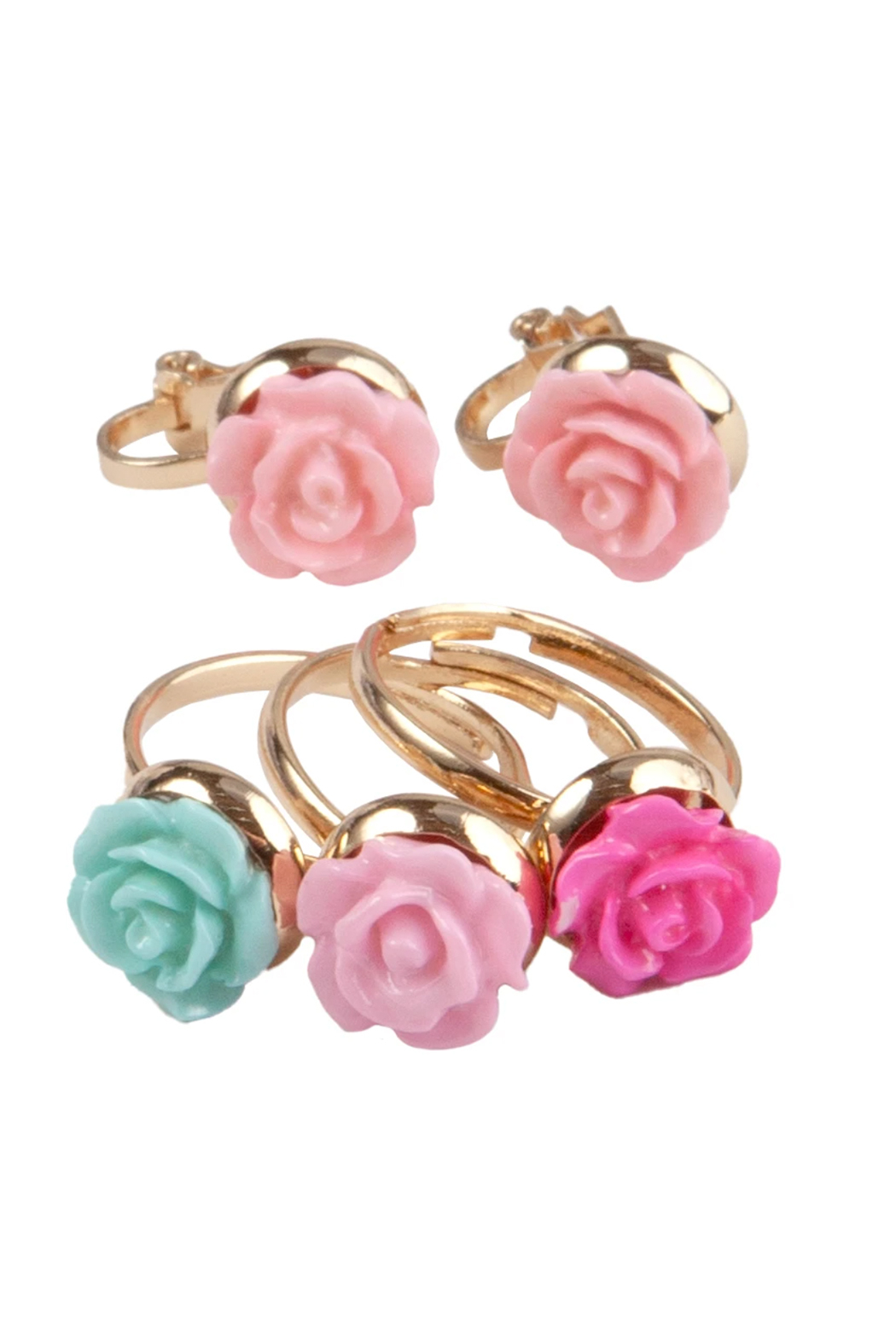 Great Pretenders  Boutique Shimmer Flower Rings - Main Image