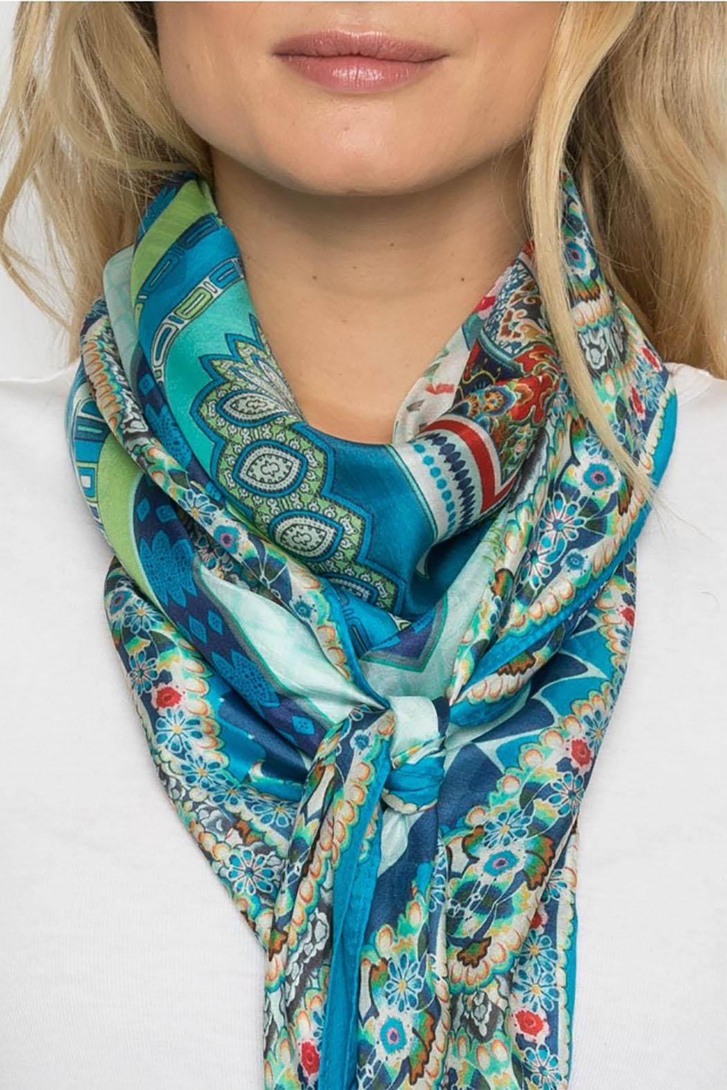 Johnny Was Collection Boutique Silk Scarf - Side Cropped Image
