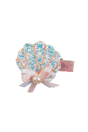 Great Pretenders  Boutique Sparkle Shell Hair Clip - Front full body