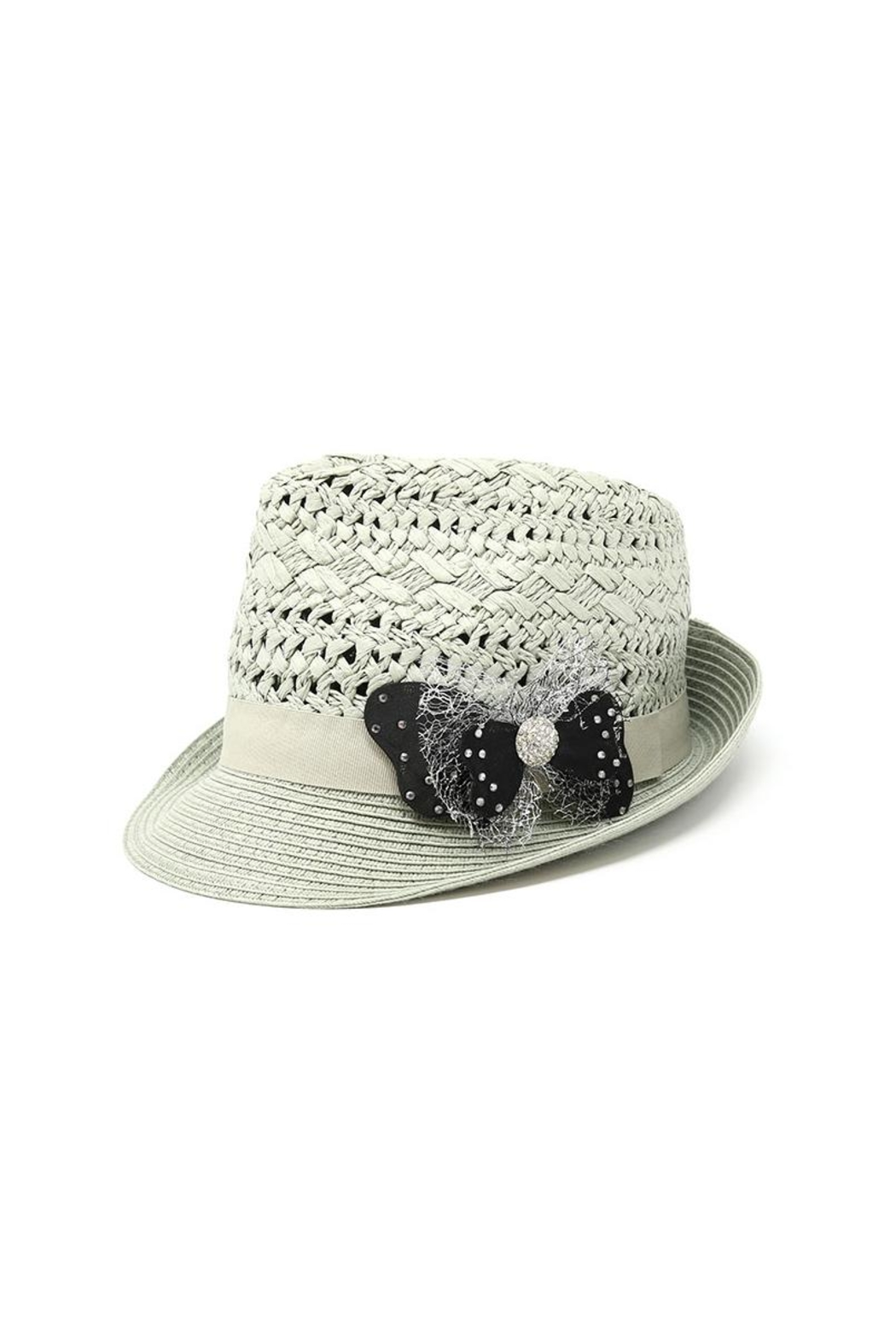 Nadya's Closet Bow Accent Fashion-Fedora - Front Cropped Image