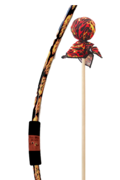 Shoptiques Product: Bow & Arrow Set - Flame Bow/Flame & Red Arrows