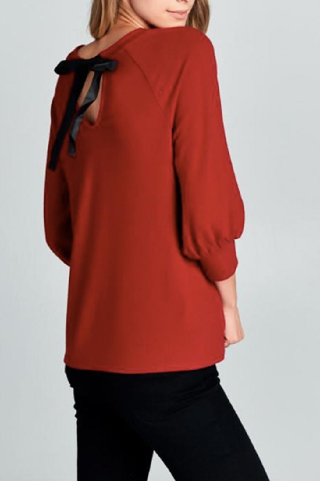 Color Thread Bow Back Top - Front Full Image
