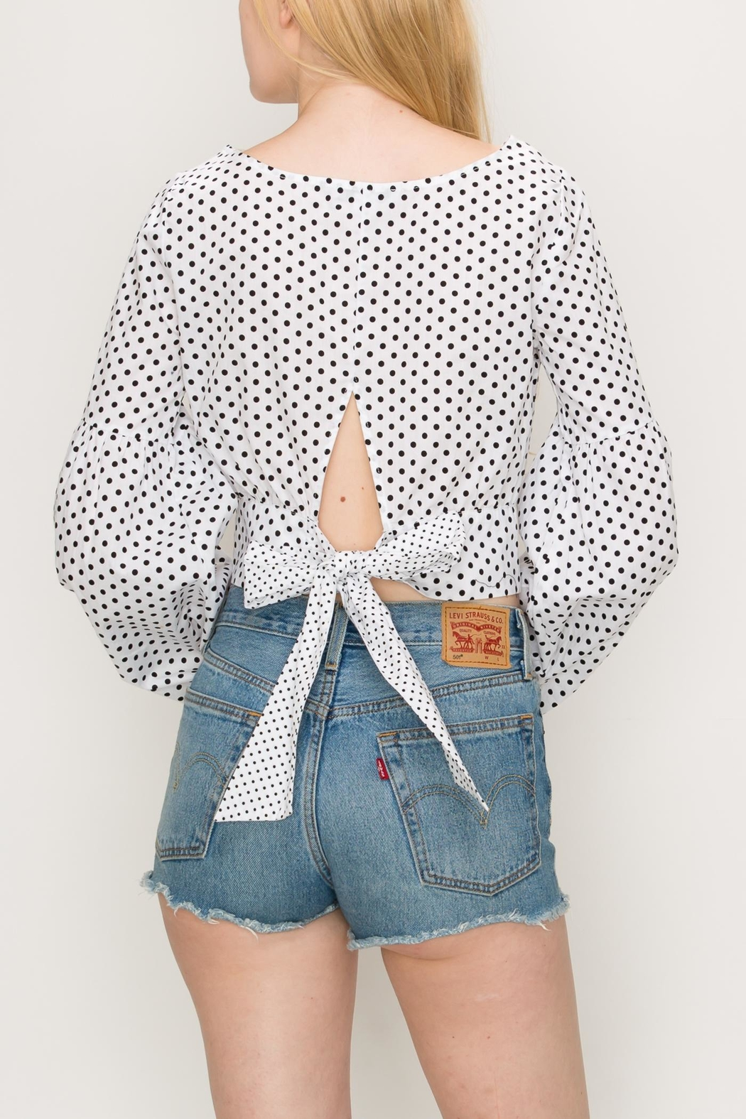 Favlux Bow Crop Top - Side Cropped Image