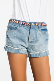 Sans Souci Bow Denim Shorts - Product Mini Image