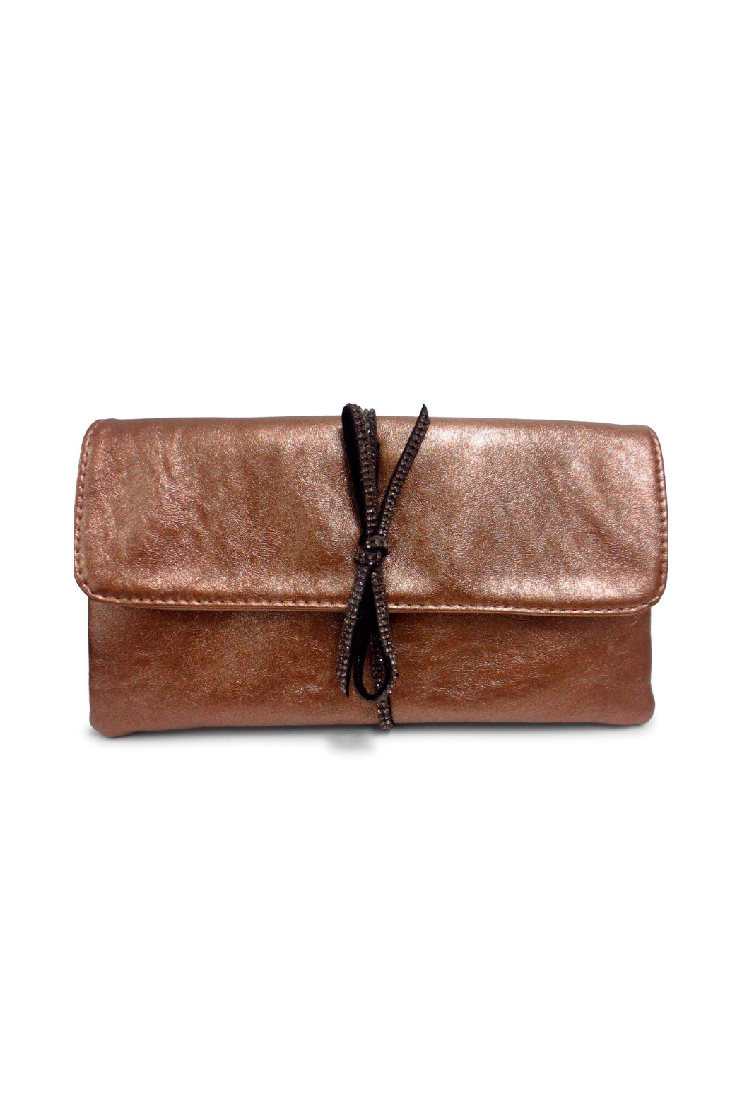 Sondra Roberts Bow Detail Clutch - Front Cropped Image