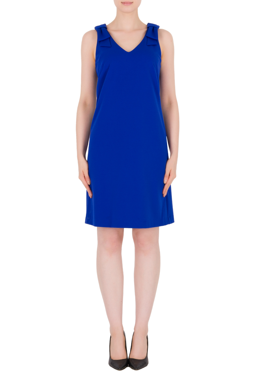 Joseph Ribkoff USA Inc. Bow Detail Straps Dress - Front Cropped Image