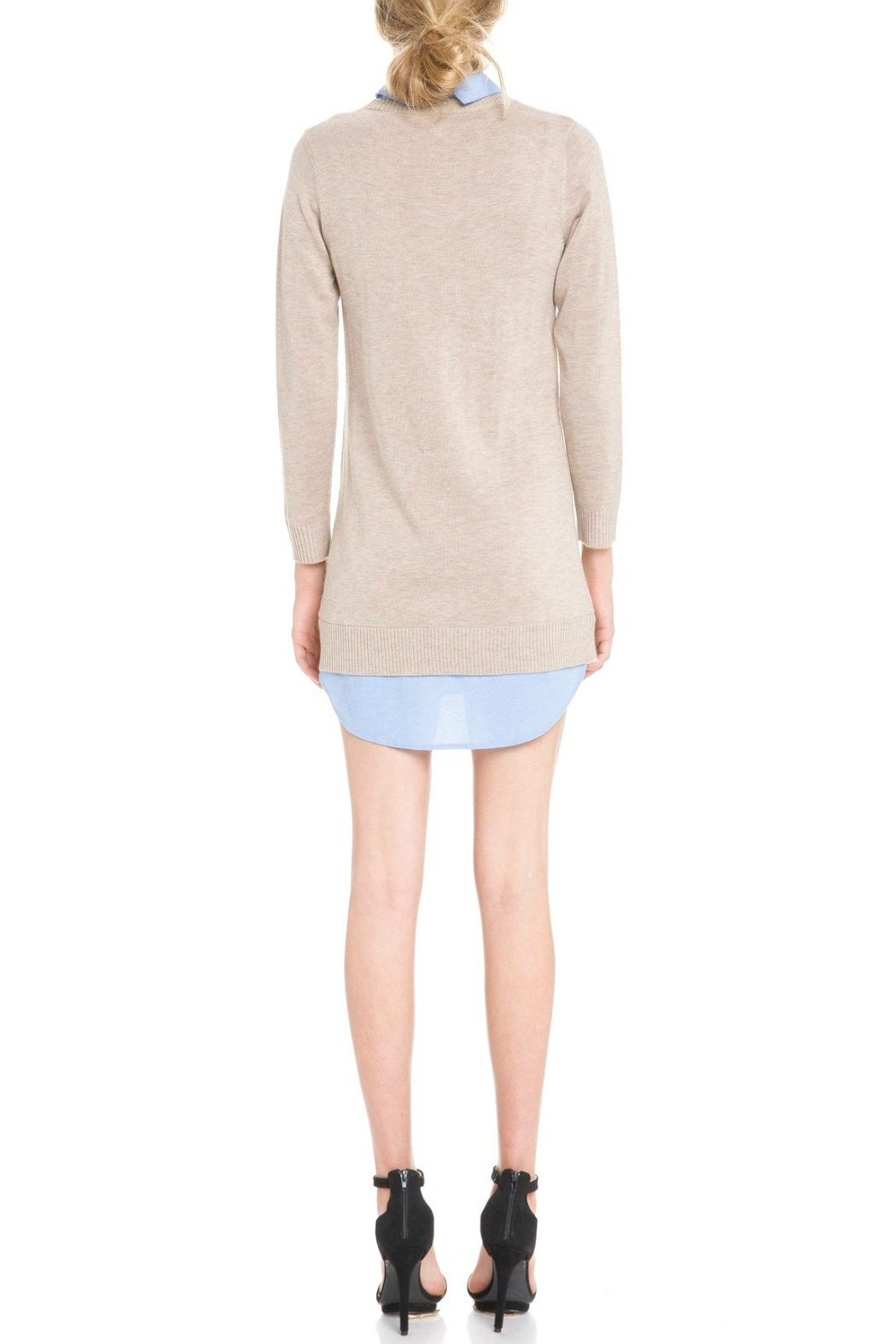 English Factory Bow Detail Sweater Dress - Side Cropped Image