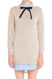 English Factory Bow Detail Sweater Dress - Back cropped